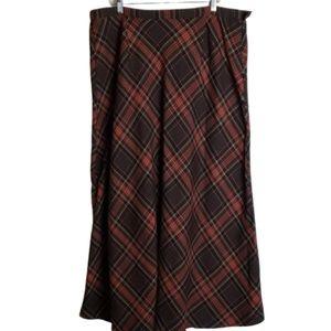 Cato Tartan Plaid Skirt Full Length Maxi 18W